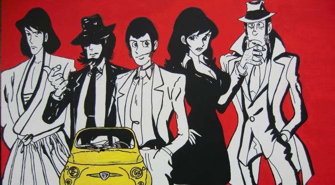 LUPIN JIGEN ZENIGATA GOEMON MARGOT POP ART