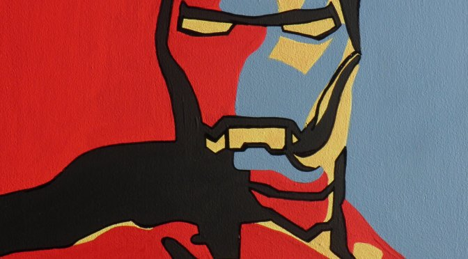 "VIDEO REALIZZAZIONE POP ART DI: ""IRON MAN"""
